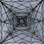 UK: The view up an electricity pylon near the River Welland. [Picture by Dave Cotton]