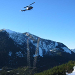 Canada: Building 500kV towers with a helicopter - north of Vancouver, BC [Picture by Ian Kozicky]