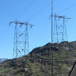 USA: Pylons near the Hoover Dam [Picture by Mike Hughes]